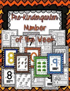 Pre-K Number of the week numbers 6-10 is here!