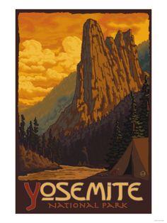 Sentinel, Yosemite National Park, California Premium Poster