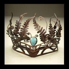 Fern tiara whimsical fairy