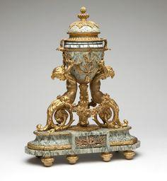 Swiss gilt bronze & marble annular clock, Gubelin : Lot 1101