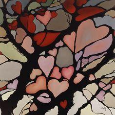 Shelly Pamensky: Gallery: Mosaics: Heart Tree