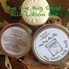 Lazy Daisy Soap Co - Bye Bye Bug Goat Milk Lotion Bar This works great as a natural bug detergent