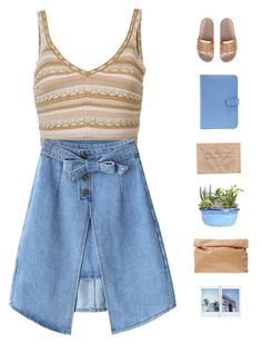 """""""Sand castle"""" by genesis129 ❤ liked on Polyvore featuring Alice + Olivia, Marie Turnor, Smythson and vintage"""