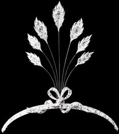 Chaumet diamond Tiara. 1920s Bandeau with aigrette