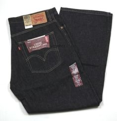 """Mens Levis Loose Straight 569 Special Dye Finish Black Size 36"""" x 30"""" New #Levis #LooseStraight"""