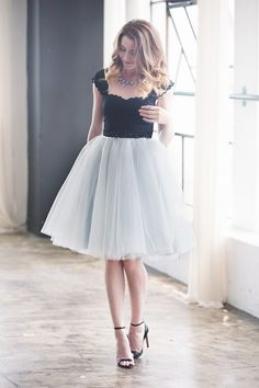 """Desperately want a long fluffy tulle skirt  The Wendy - Dove Gray 25"""" Length"""