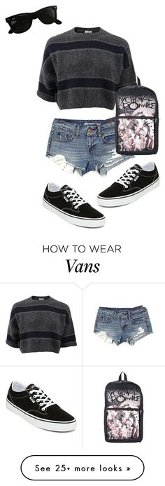 """Untitled #26"" by katty-kat-537 on Polyvore featuring Vans, American Eagle Outfitters, Brunello Cucinelli, Ray-Ban, summercamp and 60secondstyle"