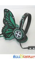 Megurine Luka Butterfly headphones