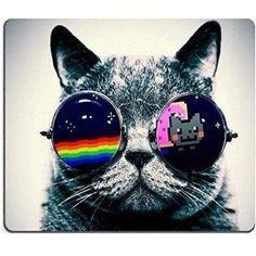 Sunglasses Cat Mouse Pad  #catsofinstagram #CatsofTwitter #shopping #fashion #catloversworld #catstagram #cat #ilovemycat #CatsOfWorld #meow