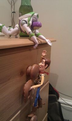 """""""Buzz, will you get up here and gimme a hand?"""" #toy story #woody #buzz"""