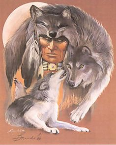 American Indian Art - I Am Wolf