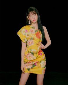 Photo album containing 7 pictures of Sakura Sakura Bloom, Eyes On Me, Sakura Miyawaki, Yu Jin, Japanese Girl Group, Sweet Girls, Asian Woman, Kpop Girls, High Neck Dress