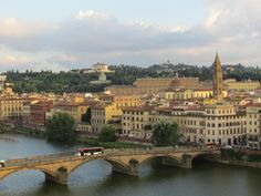 Looking over the Arno River in Florence