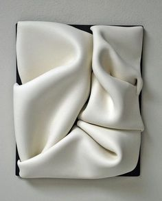 Jeannine Marchand clay mural viaMy client specified that she prefers soft textures.the white coat Ceramic Clay, Ceramic Pottery, Wall Sculptures, Sculpture Art, Ceramic Sculptures, Paperclay, Ceramic Design, Contemporary Ceramics, Fabric Manipulation