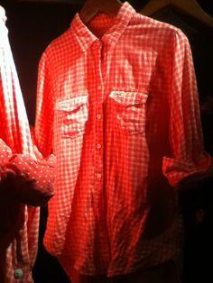 Plaid pink Hollister shirt