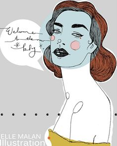 my dear friend Elle Malan's illustrations. AMZZZINGG