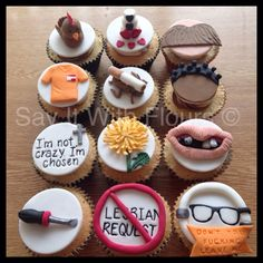 Orange Is The New Black cupcakes. #OITNB