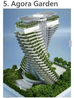 Edificios excepcionales aún en construcción. Ciudad de Taipei, capital de Taiwán.