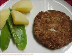 Hambúrguer vegano, sem glúten, nutritivo e fácil de preparar.