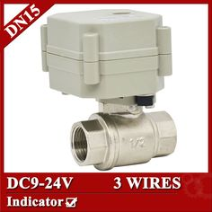 1/2'' stainless electric valve DC9-24V, DN15 3 wires motorized valve with indicator for drinking water