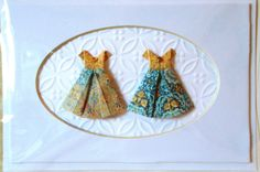 Origami Paper Dresses. Best Friends Card. by GreetingCardsToGifts, $6.45