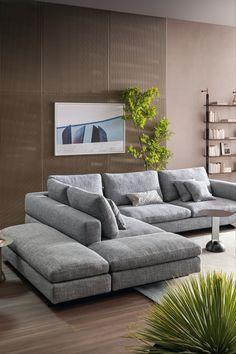 Corner Sofa Design, Living Room Sofa Design, Corner Sofa Living Room, Furniture Styles, Furniture Design, Elegant Sofa, Luxury Furniture Brands, Large Sofa, Contemporary Sofa