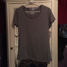 Plain t-shirt Brand new with tags! The color is like an olive green. Size XL! Mudd Tops Tees - Short Sleeve