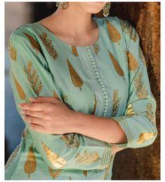 Printed Kurti Designs, Silk Kurti Designs, Simple Kurta Designs, Salwar Neck Designs, Neck Designs For Suits, Kurta Neck Design, Neckline Designs, Sleeves Designs For Dresses, Dress Neck Designs
