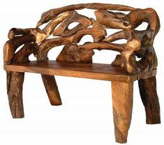 The Badland Teak Root Bench belongs in a glorious garden space. This au-natural piece of root furniture is an impeccable example of Mother Nature's best work. Carved from eco-friendly teak roots, this bench simply shines no matter where it's placed. Groovystuff specializes in furniture that would make any mountain home amazing. Imagine the Badland Teak Root Bench sitting in the front hall. The bench is manufactured using small pieces of teak root that are considered too small for practical…