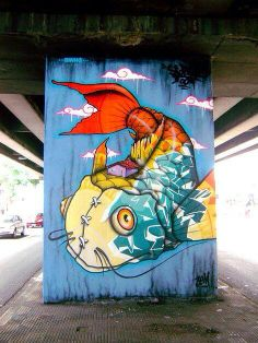 Urban art by Binho Ribeiro