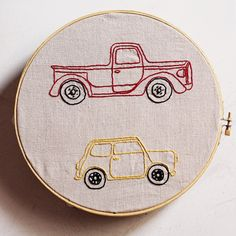 Classic Car Embroidery Pattern. $10.00, via Etsy.