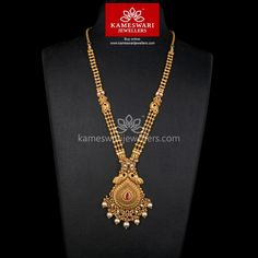 Traditional gold necklaces for women from the house of Kameswari. Shop for antique gold necklace, exquisite diamond necklace and more! Gold Temple Jewellery, Gold Wedding Jewelry, Gold Jewelry Simple, Bridal Jewelry, Gold Ring Designs, Gold Earrings Designs, Necklace Designs, Jewellery Designs, Gold Mangalsutra Designs