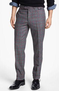 Michael Bastian Crewneck Sweater, Work Shirt & Skinny Fit Pants | Nordstrom
