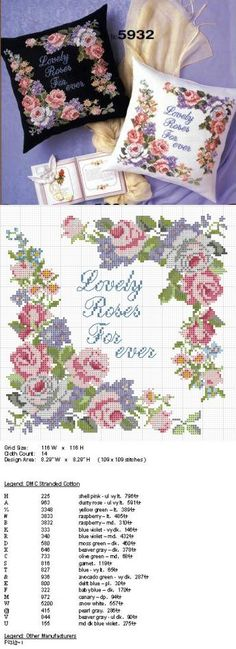 This Pin was discovered by Can Cross Stitch Rose, Cross Stitch Flowers, Cross Stitch Embroidery, Hand Embroidery, Cross Stitch Patterns, Embroidery Designs, Swedish Weaving, Easy Stitch, Pink Roses