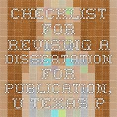My Top Five Tips for Turning Your Dissertation Into a Book–A Special Request Post