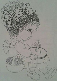 Quinta-Feira Embroidery Stitches, Embroidery Patterns, Hand Embroidery, Kids Patterns, Doll Patterns, Tole Painting, Fabric Painting, Print Pictures, Colorful Pictures