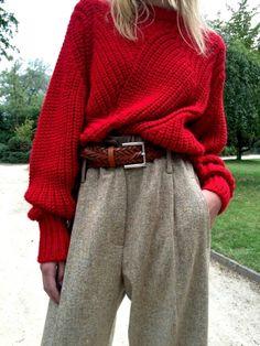 Entre cosyness et twist boyish, cette tenue nous donne des envies d'automne !