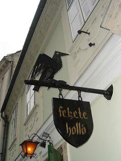 The Black Raven restaurant in Budapest, Hungary