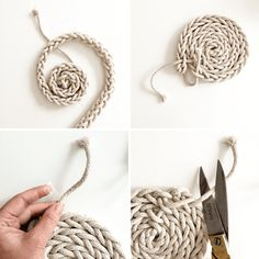 DIY - Finger Knit Rope Trivet | www.homeology.co.za
