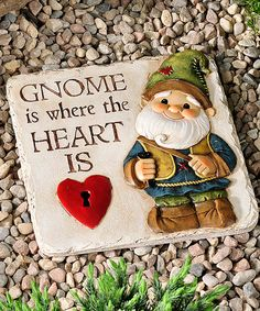 Look what I found on #zulily! Cement Gnome Stepping Stone #zulilyfinds