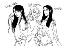 Caranthir, Celegorm and Curufin - Yes, we are hot. Its dad's fault.