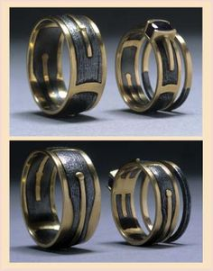 cappycounard.com Iron and Gold Wedding Bands Wrought Iron, Gold and Sapphire