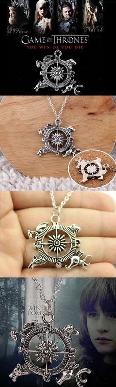 Game Of Thrones A Song of Ice and Fire Compass Necklace ! Click The Image To Buy It Now or Tag Someone You Want To Buy This For.  #GameOfThrones