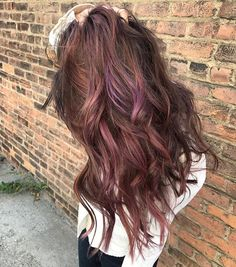 I wanted to incorporate every tone we associate with autumn.  Cool berry pinks & mauve, offset by warm copper, and anchored by Noamme's brunette base.