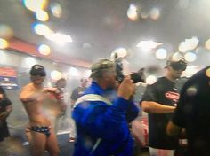 As the Astros began spraying down their locker room and each other in a victory-shower of champagne, one man rose above the rest. Houston right fielder Josh Reddick was the living embodiment of patriotism as he showed up in a Star Spangled Speedo, a pair of goggles...and nothing else. Browse through the photos for an inside look at the Astros' locker room celebration.