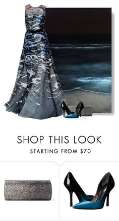 """Mimicry - Beach Series 4/5 Waves"" by love-n-laughter ❤ liked on Polyvore featuring Jimmy Choo, Carolina Herrera and GUESS"