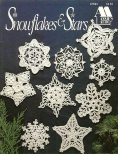Easy Crochet Snowflake Ornament Pattern | X711 Crochet PATTERN ONLY Snowflakes & Stars Christmas Ornaments