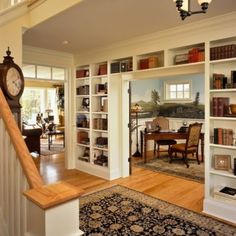 Convert a wall in the sunroom to shelves?...