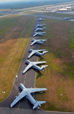 Air show parking by Official U.S. Air Force, C-5