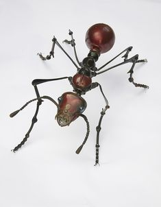Amazing Sculptures of Insects Made from Old Mechanical Parts